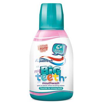 Aquafresh Płyn do płukania jamy ustnej dla dzieci Big Teeth 6-8lat (300 ml)