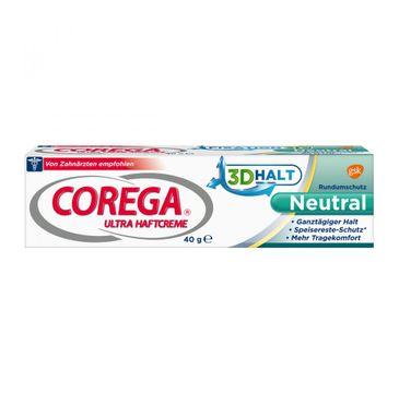 Corega – Krem mocujący do protez zębowych super mocny neutralny smak (40 g)