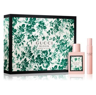 Gucci Bloom Acqua Di Fiori zestaw prezentowy woda toaletowa 50 ml + roll-on 7,4 ml