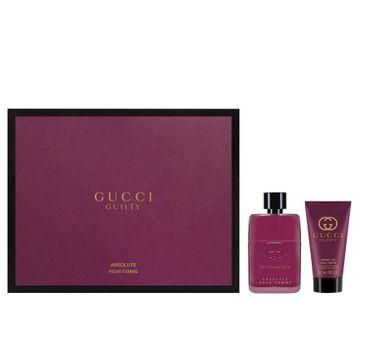 Gucci Guilty Absolute Pour Femme zestaw prezentowy woda perfumowana spray 50 ml + balsam do ciała 50 ml
