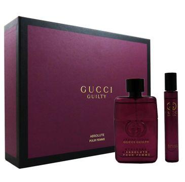 Gucci Guilty Absolute Pour Femme zestaw prezentowy woda perfumowana spray 50 ml + ROLL-ON 7,4 ml