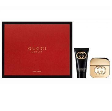 Gucci Guilty Pour Femme zestaw woda toaletowa spray 30ml + balsam do ciała 50ml