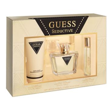 Guess – Seductive For Women zestaw woda toaletowa spray 75ml + miniaturka wody toaletowej 15ml + balsam do ciała 200ml (1 szt.)