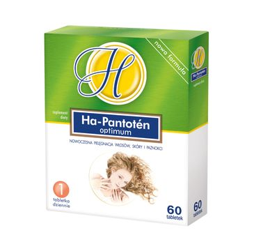 Ha-Pantoten Optimum włosy skóra i paznokcie suplement diety (60 tabletek)