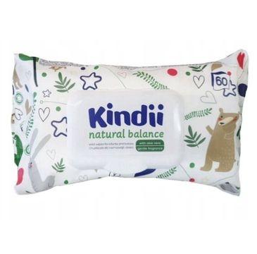 Cleanic Kindii –  chusteczki nawilżające Natural Balance (60 szt.)