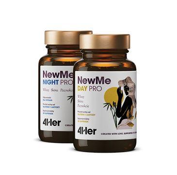 HealthLabs 4HER NewMe Pro Day+Night witaminy i minerały na włosy skórę i paznokcie suplement diety (60 kaps.)