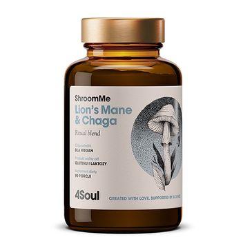 HealthLabs – 4SOUL ShroomeMe Lion's Mane & Chaga energia i poprawa koncentracji suplement diety (90 porcji)
