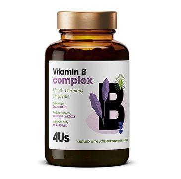 HealthLabs 4US Vitamin B Complex kompleks witamin z grupy B suplement diety (60 kaps.)