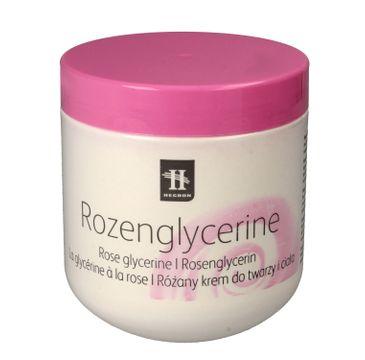 Hegron krem do każdego typu skóry zwłaszcza suchej do ciała i twarzy nawilżający Rose Glycerine 350 ml