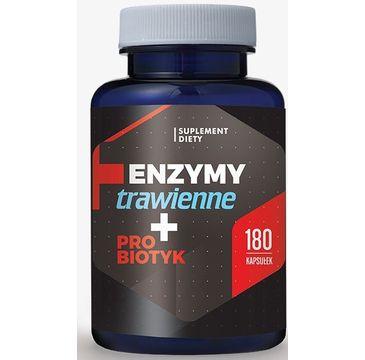 Hepatica Enzymy Trawienne + Probiotyk suplement diety 180 kapsułek