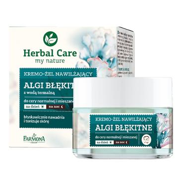 Herbal Care Algi Błękitne kremo-żel nawilżający z wodą termalną do cery normalnej i mieszanej (50 ml)