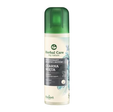 Herbal Care dezodorant do stóp i butów czarna mięta 150 ml