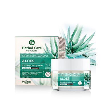 Herbal Care krem do twarzy nawilżający z aloesem na dzień i noc 50 ml
