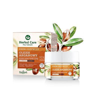 Herbal Care krem do twarzy odżywczy z olejkiem arganowym na dzień i noc 50 ml