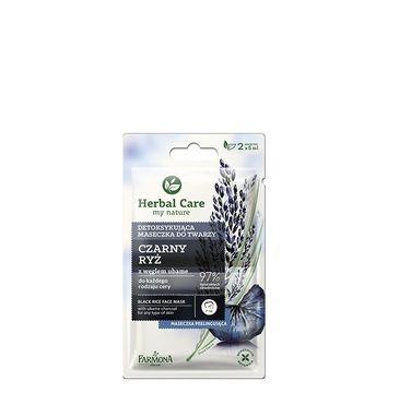 Herbal Care maseczka detoksykująca do twarzy czarny ryż 2 x 5 ml