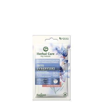 Herbal Care maseczka-krio przeciwzmarszczkowa do twarzy irys syberyjski 2 x 5 ml