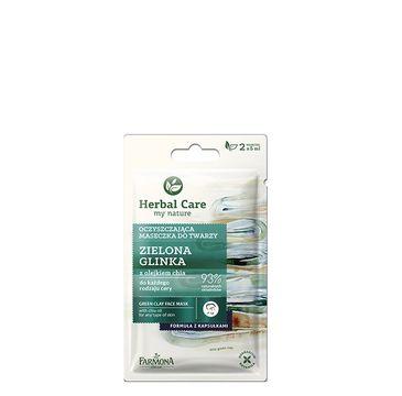 Herbal Care maseczka oczyszczająca do twarzy zielona glinka 2 x 5 ml