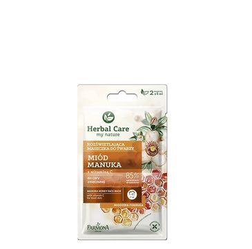 Herbal Care maseczka rozświetlająca do twarzy miód manuka 2 x 5 ml