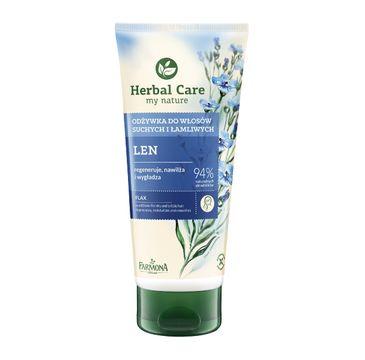 Herbal Care odżywka do włosów suchych i łamliwych len odbudowująca 200 ml
