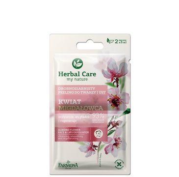 Herbal Care peeling drobnoziarnisty do każdego typu skóry wygładzający kwiat migdałowca saszetka 5 ml x 2