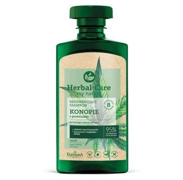 Herbal Care – Regenerujący szampon Konopie z proteinami ((330 ml)