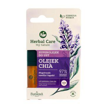 Herbal Care Superolejek do ust nawilżająco-łagodzący Chia 5 ml