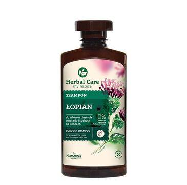 Herbal Care szampon do włosów przetłuszczających się łopian 330 ml