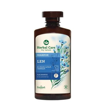 Herbal Care szampon do włosów suchych i zniszczonych lniany witalność i blask 330 ml