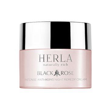 Herla Black Rose intensywnie odbudowujący krem przeciwstarzeniowy na noc 50ml