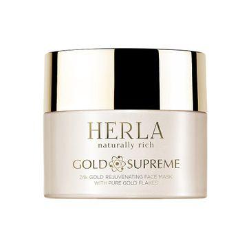 Herla Gold Supreme 24k Złoto odmładzająca maska do twarzy z płatkami złota 50ml