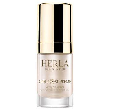 Herla Gold Supreme 24k Złoto Superior Repair przeciwzmarszczkowy żel do okolic oczu 15ml