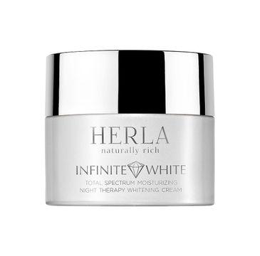 Herla Infinite White Total Spectrum nawilżający krem na noc wybielający przebarwienia 50ml