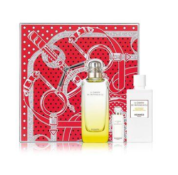Hermes Le Jardin de Monsieur Li zestaw woda toaletowa spray 100ml + balsam do ciała 80ml + miniatura wody toaletowej 7.5ml
