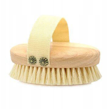 Hhuumm – Szczotka do masażu i mycia ciała miękkie włókno tampico (1 szt.)