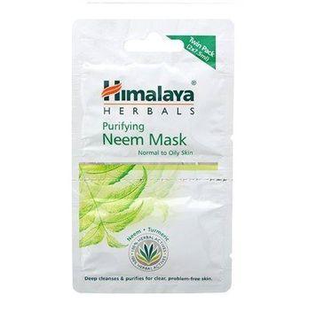 Himalaya Herbals Purifying Neem Mask maska do cery normalnej i tłustej 2x7,5ml