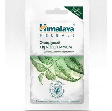 Himalaya Herbals Purifying Neem Scrub Face Mask oczyszczający peeling do twarzy z miodli indyjskiej 2x6ml