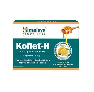 Himalaya – KOFLET-H Pastylki do ssania o smaku cytrynowym (2 x 6 szt.)