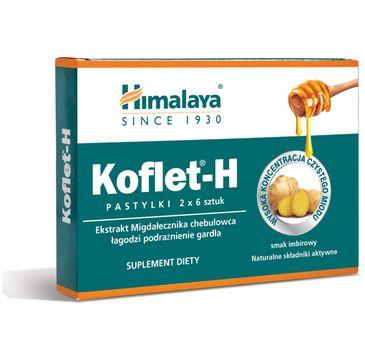 Himalaya – KOFLET-H Pastylki do ssania o smaku imbirowym (2 x 6 szt.)