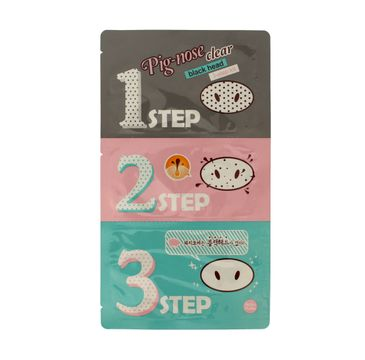 Holika Holika 3-step Pig-Noce Clear plasterki na nos 3 szt