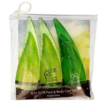 Holika Holika Aloe 99% zestaw Jeju Aloe Set (żel + pianka + żel pod prysznic) 1 op 55 ml x 3