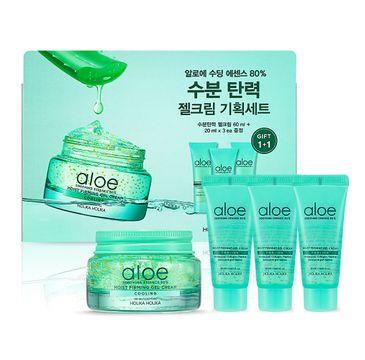 Holika Holika Aloe Soothing Essence 80% Gel Cream Set zestaw żelowy krem do twarzy 60 ml + żelowy krem do twarzy 3 x 20 ml