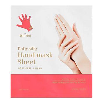 HOLIKA HOLIKA Baby Silky Hand Mask Sheet nawilżająco-złuszczająca maseczka do rąk w formie bawełnianych rękawiczek 15ml