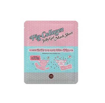 HOLIKA HOLIKA Pig-Collagen Jelly Gel Mask Sheet rozjaśniająca przeciwzmarszczkowa hydrożelowa maseczka do twarzy 25ml