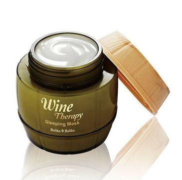HOLIKA HOLIKA Wine Therapy Sleeping Mask całonocna maseczka z ekstraktem z białego wina 120ml
