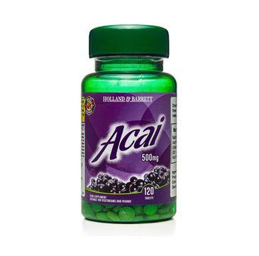Holland & Barrett Jagody Acai 500mg suplement diety 120 tabletek