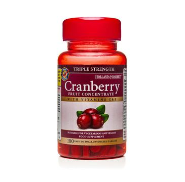 Holland & Barrett Koncentrat z żurawiny suplement diety 100 tabletek
