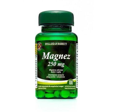 Holland & Barrett Magnez 250mg suplement diety 100 tabletek