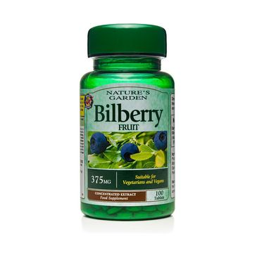 Holland & Barrett Nature's Garden Borówka Bagienna 375mg wegański suplement diety 100 tabletek