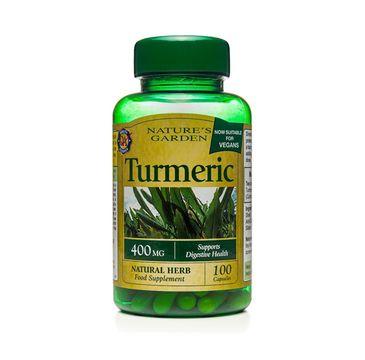 Holland & Barrett Nature's Garden Kurkuma 400mg wegański suplement diety 100 kapsułek