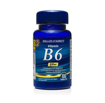 Holland & Barrett Witamina B6 50mg suplement diety 100 tabletek